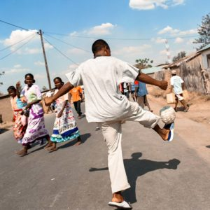 Fussball Spieler, Bolzplatz, Training, Armut, Kinder