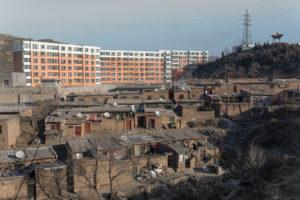 Landschaft, Panorama, Kohle, Umweltzerstörung, Luftverschmutzung, China, Arbeiter