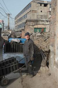 Arbeitersiedlung, Bewohner, Stahlherstellung Umweltzerstörung, Luftverschmutzung, China, Datong